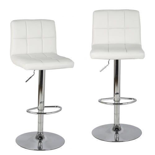 bar stool with adjustable swivel bonded leather
