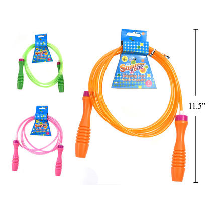 PVC Skipping Rope 7ft,1 Randomized Color Per Pack