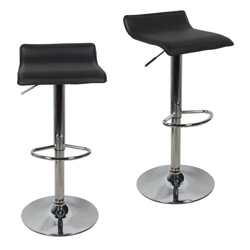 Medium Plus 8fa16 Moustache Mofc D52 2 Bk Office Chairs Swivel Adjustable  Pvc Bar Stool Black