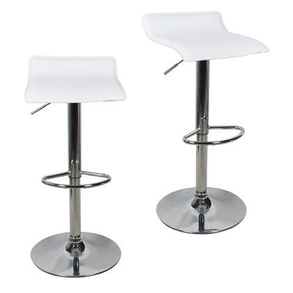 Adjustable Height Swivel Bar Stool with PVC Seat - Moustache®