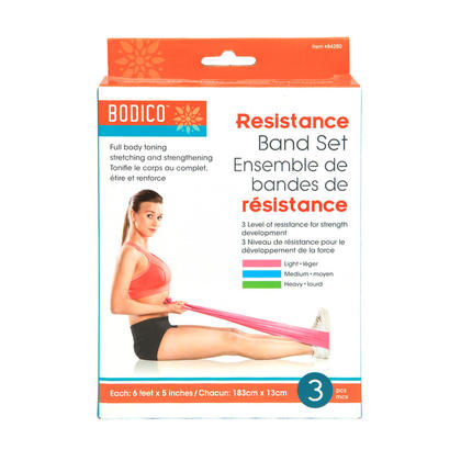 Flat Exercise Stretch Bands Resistance Bands Physical Therapy Bands 8in 3Pcs/pack