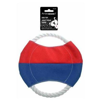 """Pet Dog Frisbee Flying Discs Teeth Cleaning Rope Circle Pet Chew Training Toy, 7.9"""""""