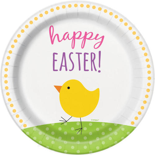 Cute Easter Dinner Plates 9\  Happy Easter Party Paper 8Pcs  sc 1 st  Living.ca & Cute Easter Dinner Plates 9\