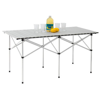 Portable Camping Aluminum Folding Table Extended Version