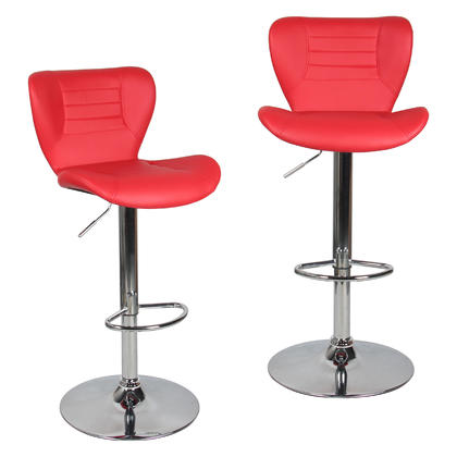 Adjustable Height Swivel Bar Stool - Moustache@ - 2/Pack,  Red