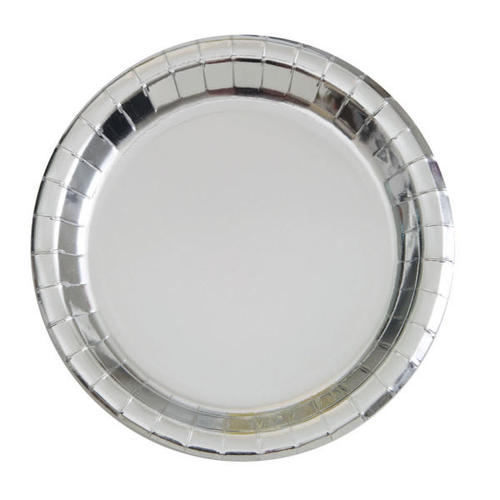 paper dinner round plate foil silver 9 8pcs living ca canada