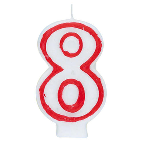 Birthday Candle Number 8 Deluxe 1Pc