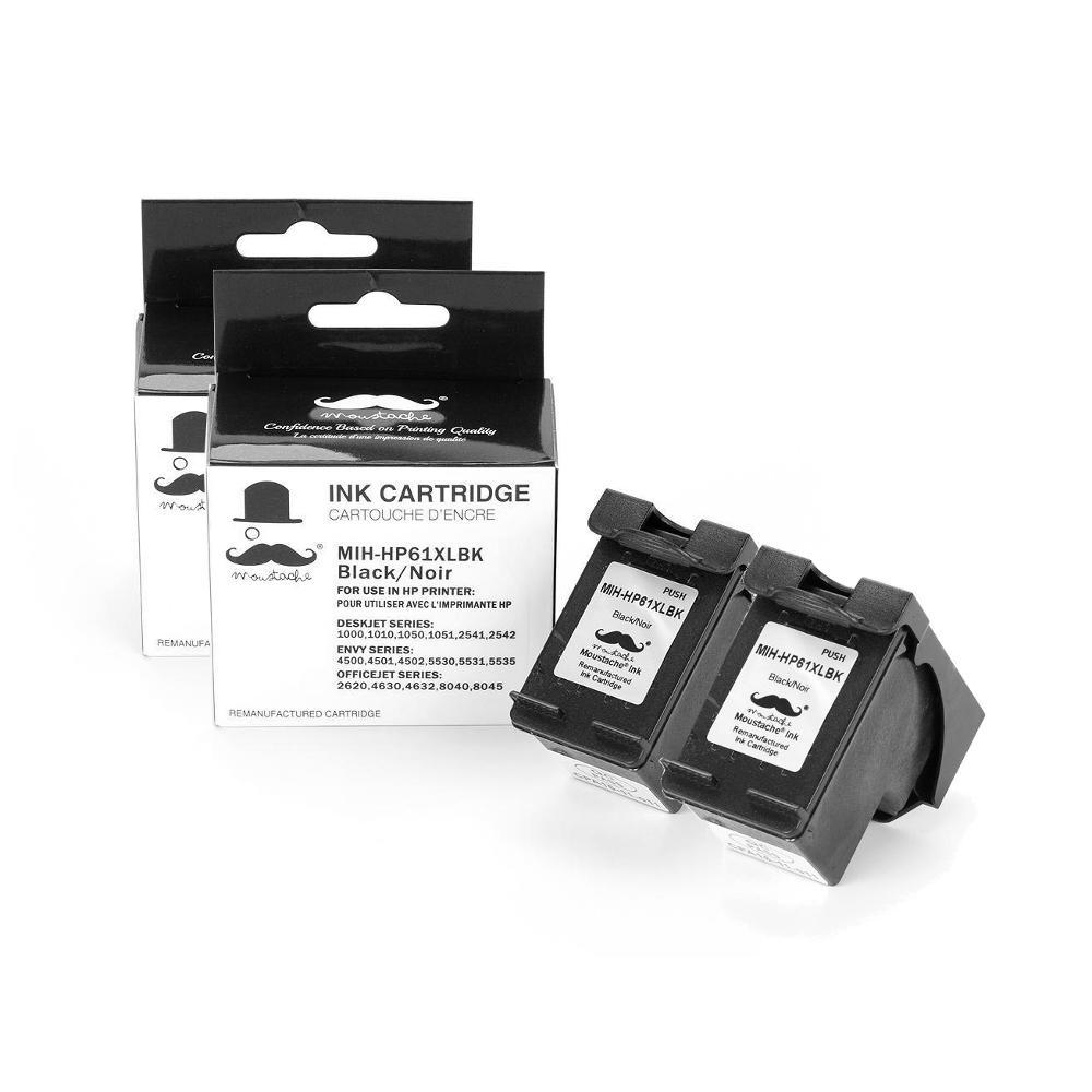 Remanufactured HP 61XL CH563WN Black Ink Cartridge (High Yield) - Moustache®