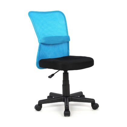 360 Swivel Mesh Office Chair ,  Armless,  Mid-Back- Moustache@ - Blue