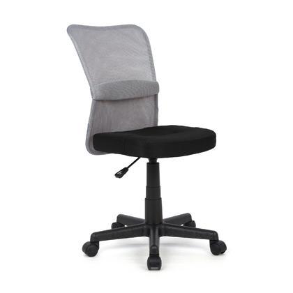 360 Swivel Mesh Office Chair ,  Armless,  Mid-Back- Moustache@