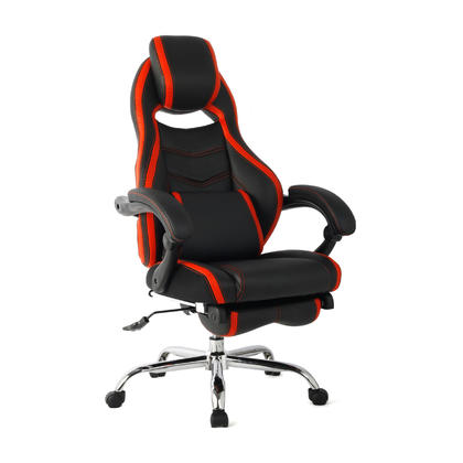 Ergonomic Gaming Chair, High Back Computer Chair, Executive Chair with Adjusting Footrest-Moustache@
