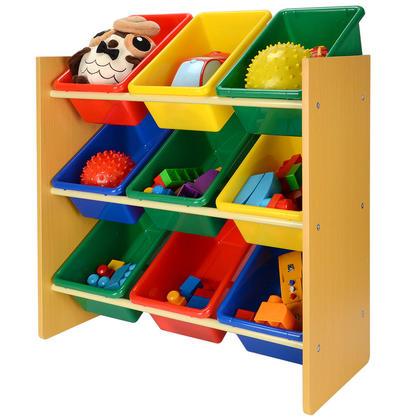 Organisateur de jouet d'enfant avec conteneur de 9 bacs en plastique - SortWise™