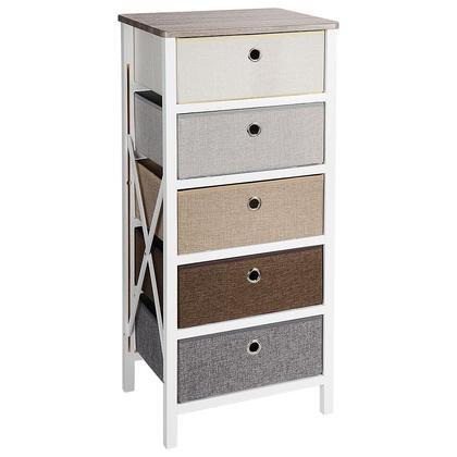 Five Drawer Storage Organizer Unit For Closet Bedroom Livingroom Entryway MDF Pine Frame - SortWise™
