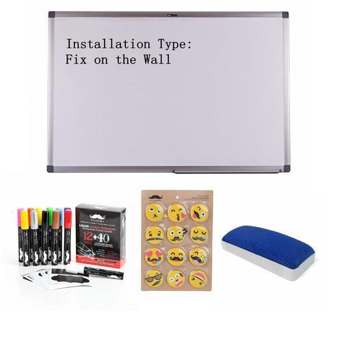 Magnetic Dry-Erase Whiteboard, Aluminum Frame, 60 x 90cm (24\