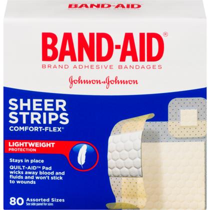 BAND-AID®PLASTIC CONFORT 80Pcs / Paquet