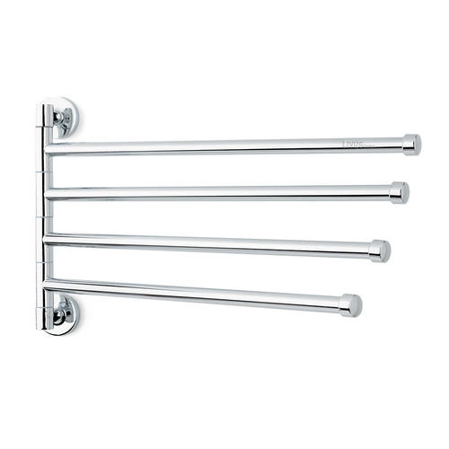 Rotary Towel Rack With 4 Swivel Bars Wall Mounted Stainless Steel