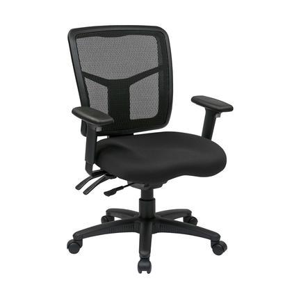 OfficeStar@ ProGrid@ fauteuil de bureau mi-dos en filet, Noir