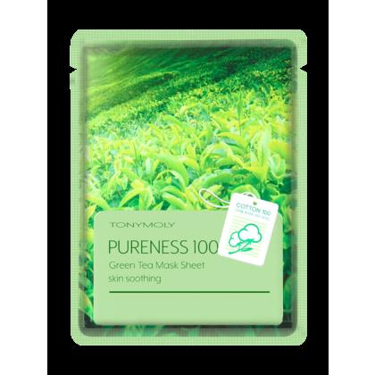 TONYMOLY Pureness 100 Feuille De Masque - Thé Vert 1Pc