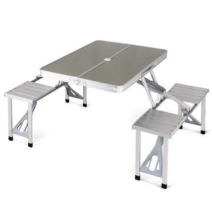 Folding picnic table with 4 Seats Aluminum - Moustache®