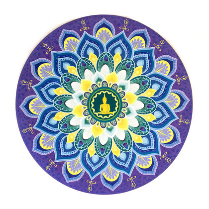 Natural Rubber Non Slip Yoga Mat, Printed Meditation Mat, 70*70 cm - LIVINGbasics™ - Style 01