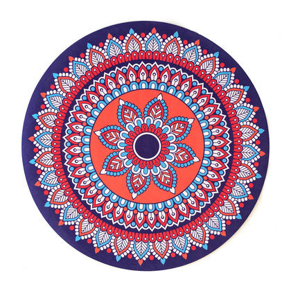 Tapis de méditation en caoutchouc naturel antidérapant, 70*70 cm - LIVINGbasics™ - Style 02
