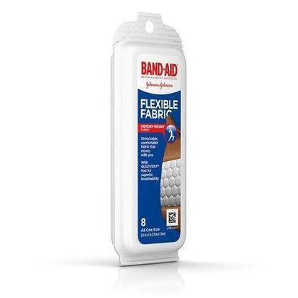 Band-Aid Bandages en tissu souple Pack Voyage, 8 Bandages / Pack