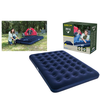 """Blue Full-Size Air Bed Inflatable Camping Mattress, 75"""" x 54"""" x 8.5"""""""