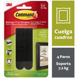 Command™ Picture Hanging Strips, Large, Black, Holds 16 lbs, 4/Pack