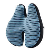 Memory Foam Orthopedic Lumbar Support Cushion with Mesh Cover - Moustache®