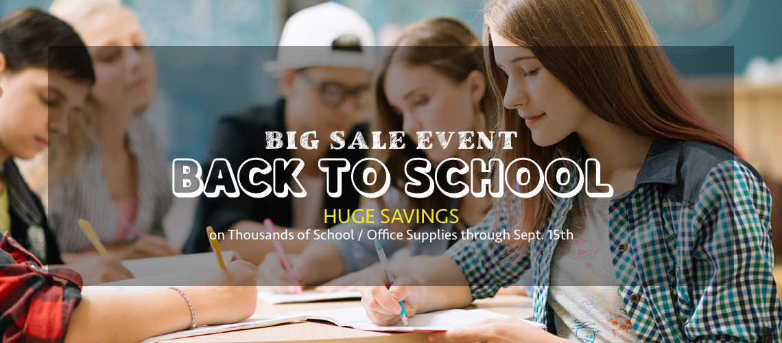 Back to School Supplies Big Sale Event