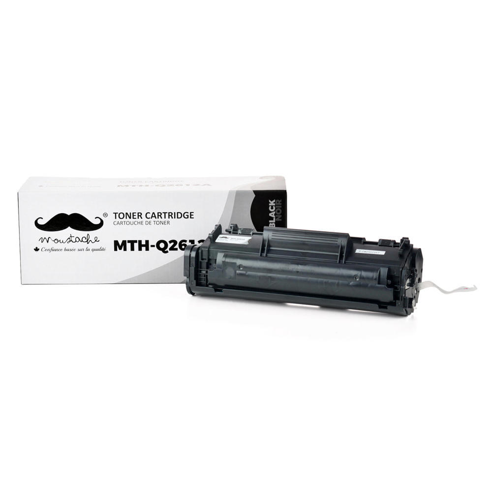 Compatible HP 12A Q2612A Black Toner Cartridge - Moustache®