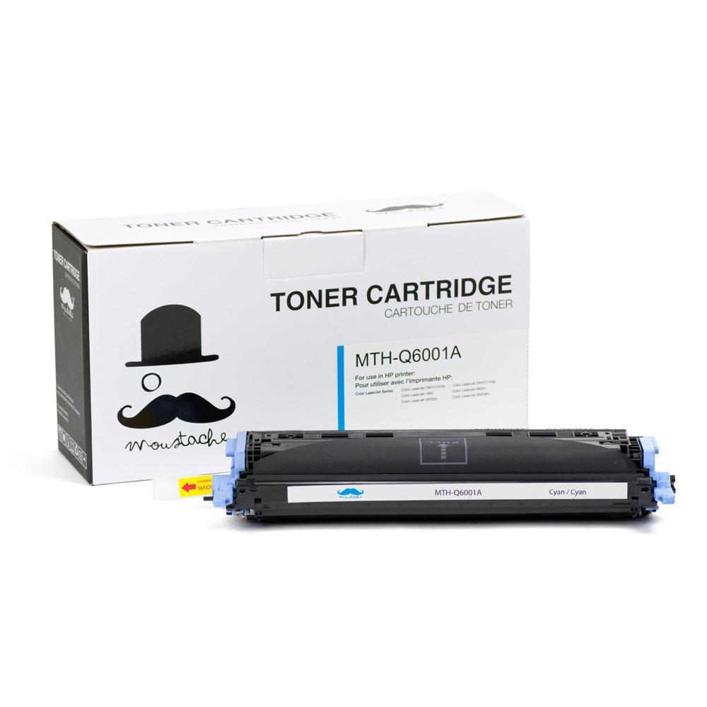Remanufactured HP 124A Q6001A Cyan Toner Cartridge – Moustache
