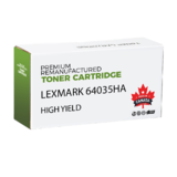 Lexmark 64035HA Remanufactured Black Toner Cartridge High Yield