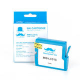 Brother LC51C Compatible Cyan Ink Cartridge - Moustache®