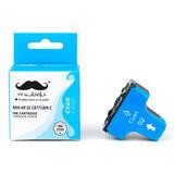 Remanufactured HP 02 C8771WN Cyan Ink Cartridge - Moustache®