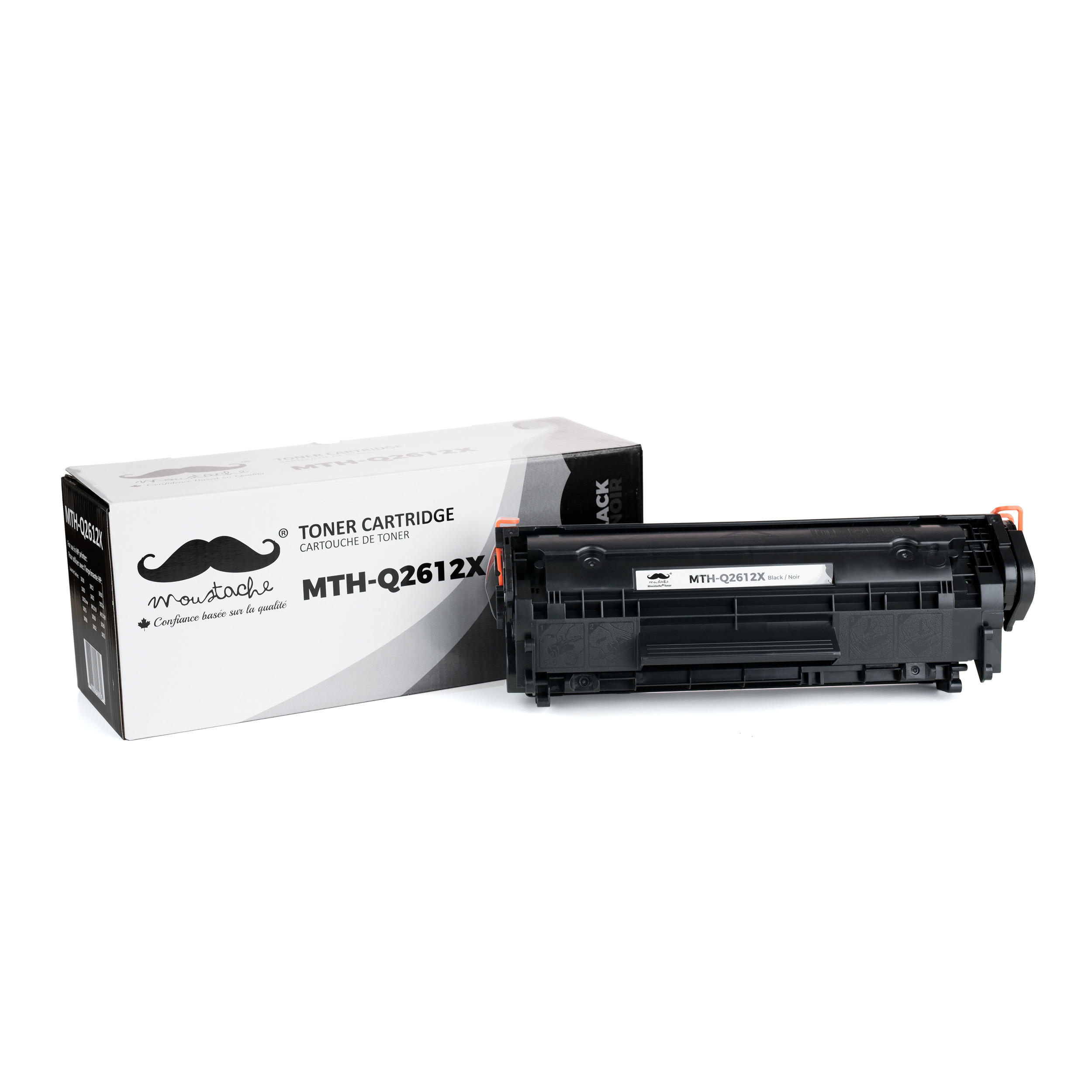 Compatible HP 12X Q2612X Black Toner Cartridge High Yield - Moustache®