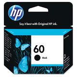 HP 60 CC640WN Original Black Ink Cartridge (CC640WC #140)