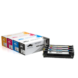 Remanufactured HP 125A CB540A CB541A CB542A CB543A Toner Cartridge Combo BK/C/M/Y - Moustache®