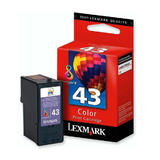 Lexmark 43XL 18Y0143 18Y0343 Original Color Ink Cartridge