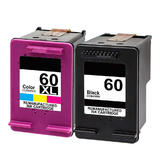 Remanufactured HP 60 CC640WN HP 60XL CC644WN Black and Color Ink Cartridge Combo