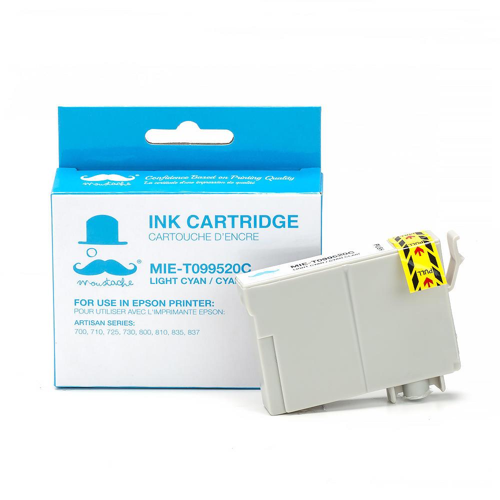 Epson 99 T099520 Compatible Light Cyan Ink Cartridge - Moustache®
