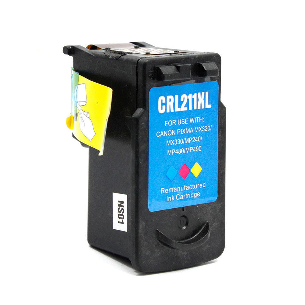Canon CL-211XL Remanufactured Color Ink Cartridge High Yield - Economical Box