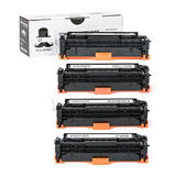 Compatible HP 304A CC530A CC531A CC532A CC533A Toner Cartridge Combo BK/C/M/Y - Moustache®