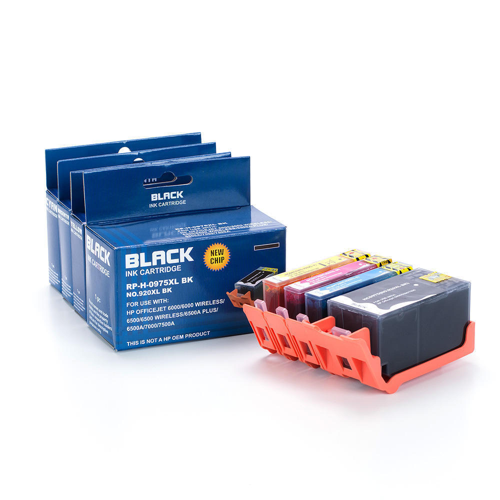 remanufactured compatible hp 920xl ink cartridge combo high yield bk c m y at inkjetsuperstore. Black Bedroom Furniture Sets. Home Design Ideas