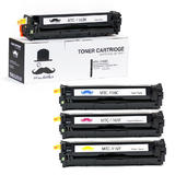 Canon 116 Remanufactured Toner Cartridge Combo BK/C/M/Y- Moustache®