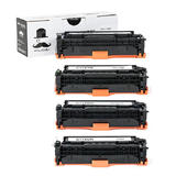 Canon 118 Compatible Toner Cartridge Combo BK/C/M/Y - Moustache®