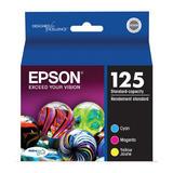 Epson 125 T125520 Original Colour Ink Cartridge Combo C/M/Y