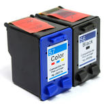 Remanufactured HP 56 HP 57 Black and Color Ink Cartridge Combo High Yield - G&G™