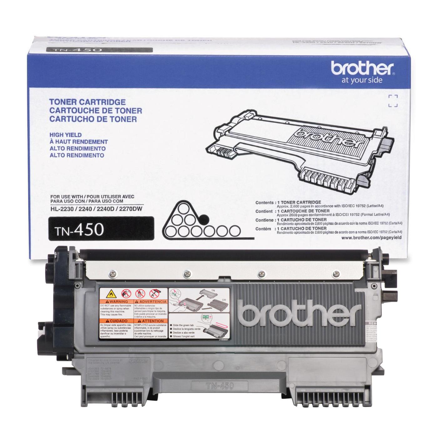 Brother TN450 Original Black Toner Cartridge High Yield