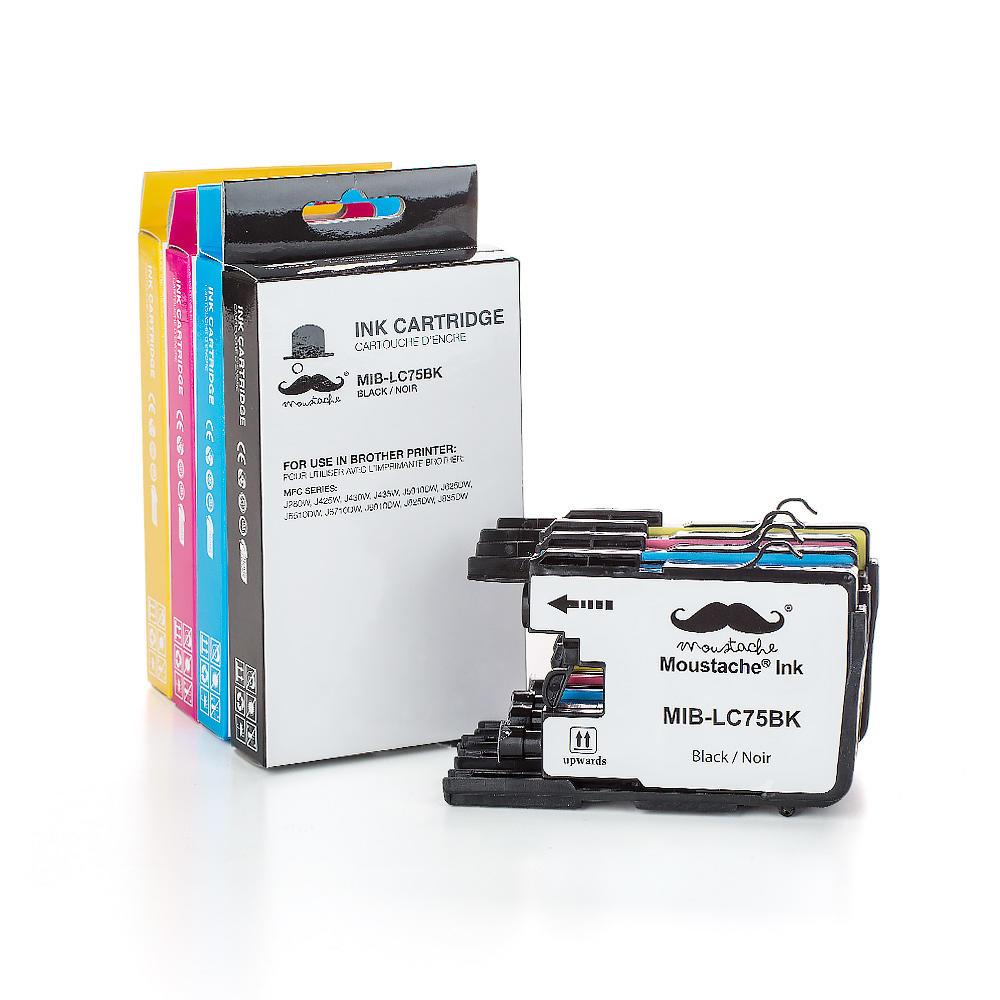 Brother LC75 Compatible Ink Cartridge Combo High Yield BK/C/M/Y